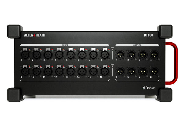 Allen & Heath DT168 Portable 96kHz Dante Expander Module 16 XLR In / 8 XLR Out