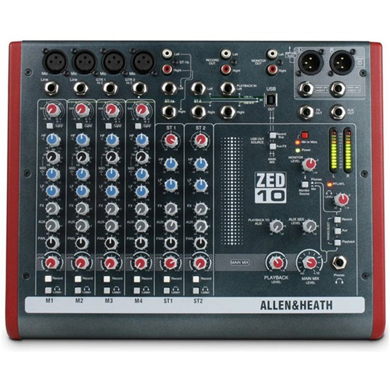 Allen & Heath ZED-10 Multipurpose USB Mixer