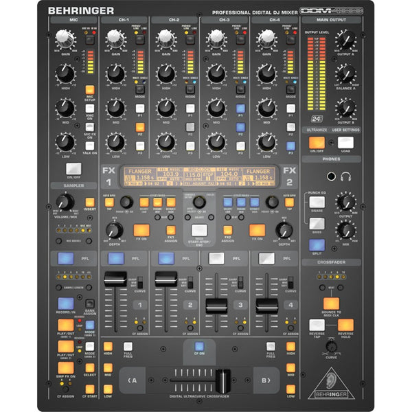 Behringer DDM400 Digital Pro DJ Mixer with Sampler, FX & MIDI