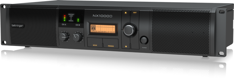 Behringer NX1000D Ultra-Lightweight 1000-Watt Class-D Power Amplifier with DSP Control