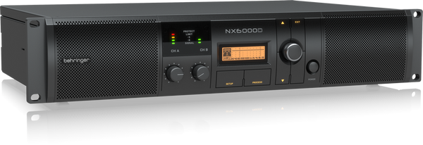Behringer NX6000D Ultra-Lightweight 6000-Watt Class-D Power Amplifier with DSP Control