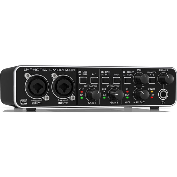 Behringer U-Phoria UMC204HD 2x4 USB Audio Interface (24-Bit/192kHz)