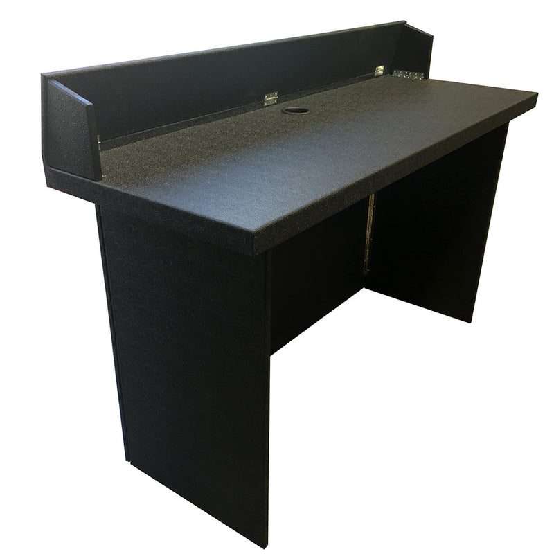 Portable Heavy-Duty DJ BOOTH-TABLE | Black Tolex Vinyl Covered