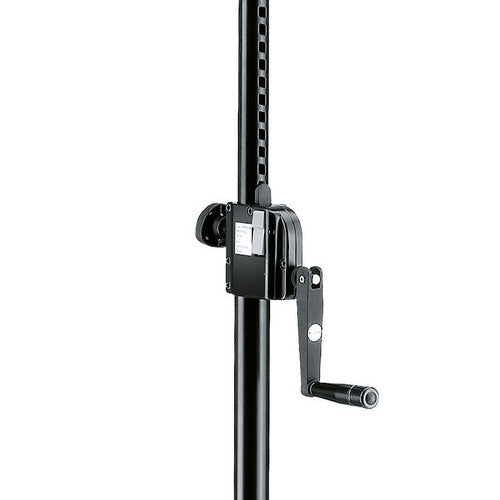 K&M 213 WIND-UP SPEAKER STAND Black | Made in Germany | 5 Year Warranty
