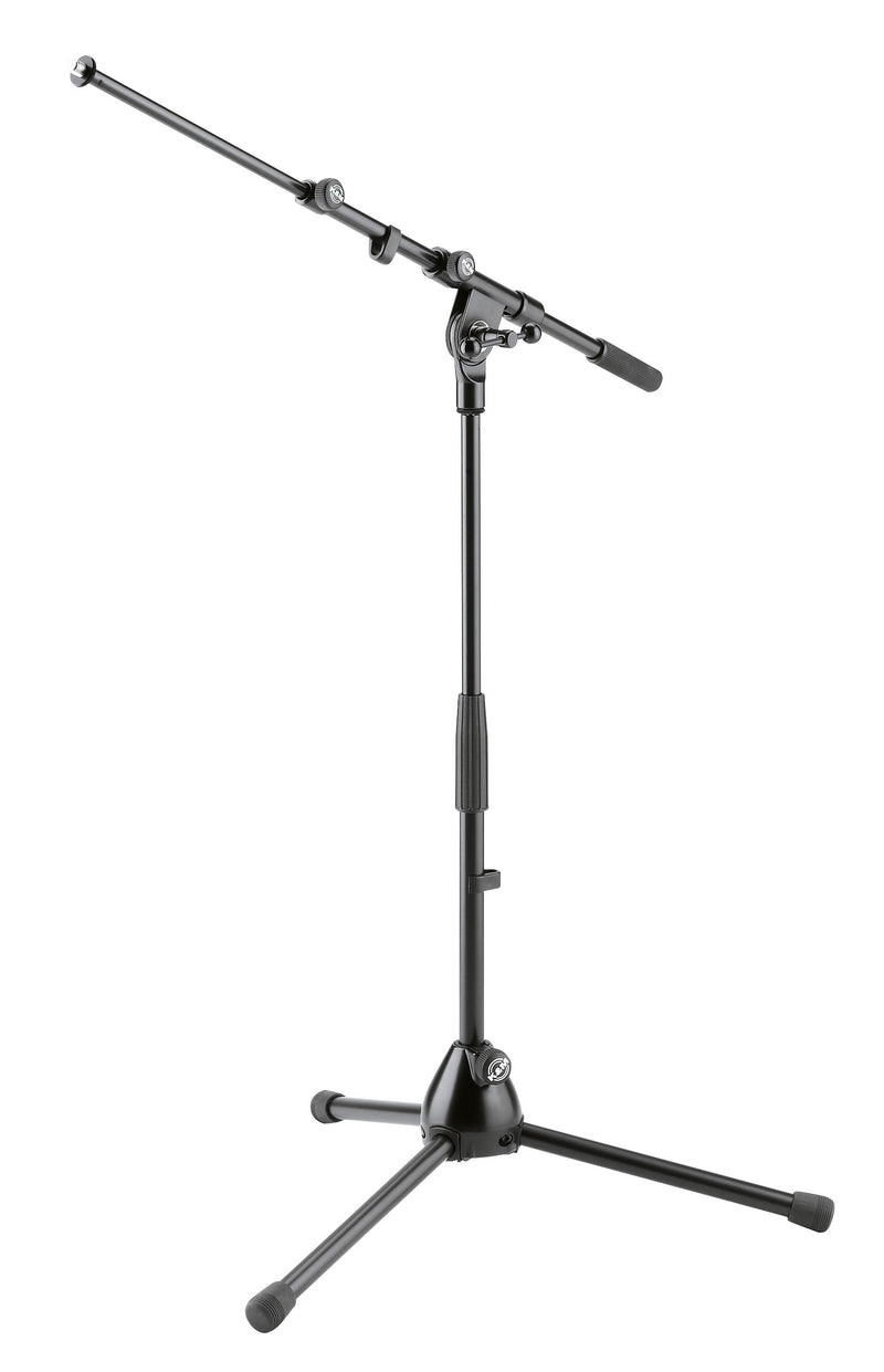 K&M 259 LOW-LEVEL MICROPHONE STAND with Height and Boom Adjustments | 5 Year Warranty