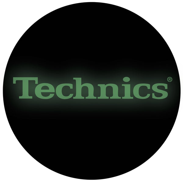 Technics Glow in the  Dark DJ Slipmats  | Pair