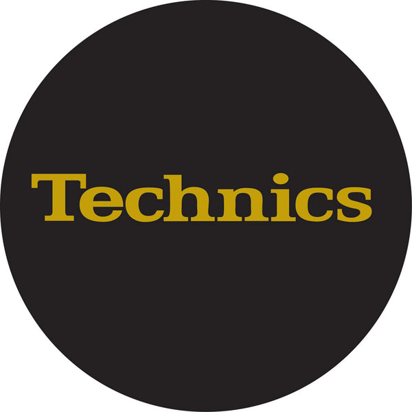 Technics Gold Foil Slipmat  | Pair | Black