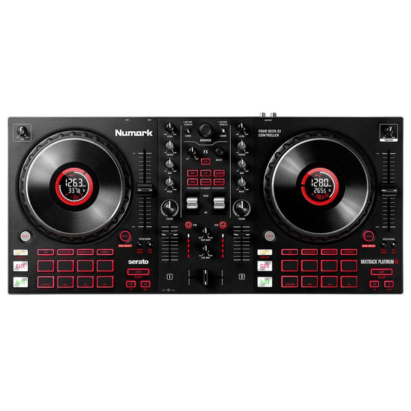 Numark MIXTRACK PLATINUM FX 4-Deck Advanced DJ Controller for Serato w/ Jog Wheel Displays & FX IN STOCK