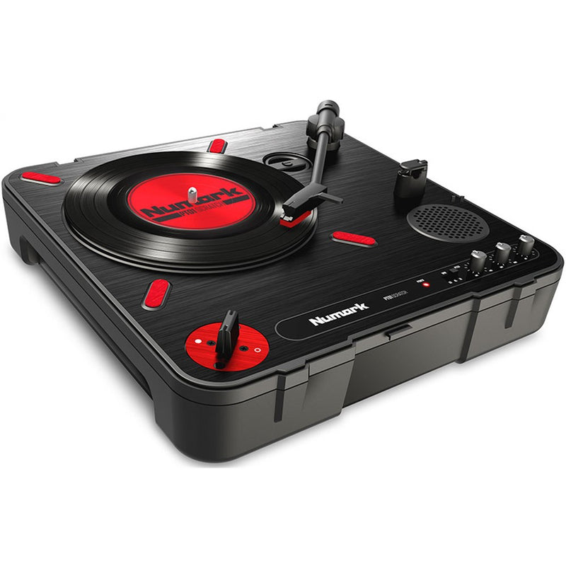 "Numark PT01 SCRATCH Portable Turntable with Optional 7"" Scratch Record"