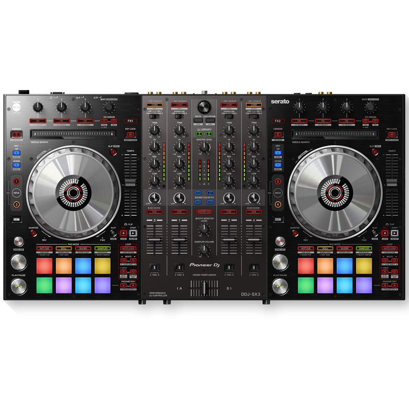Pioneer DDJ-SX3 4-Channel DJ Controller for Serato DJ Pro (Optional Flight Cases)