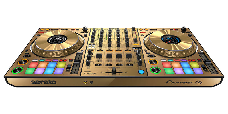 Pioneer DDJ-1000SRT-N 4-Channel Performance Controller for Serato DJ Pro  (Limited Edition Gold)