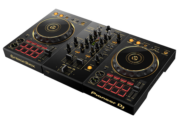 Pioneer DDJ-400-N 2-Channel DJ controller for Rekordbox (Limited Edition Gold) (Optional Shell Case)
