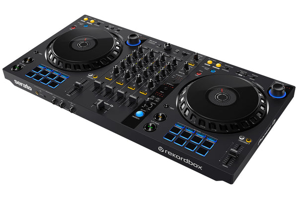 Pioneer DDJ-FLX6 4-Channel DJ Controller for Rekordbox and Serato DJ Pro (Optional UDG Shell Case)
