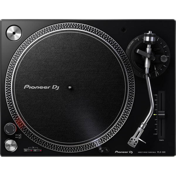 Pioneer PLX-500 Turntable with DJM-S3 Mixer DJ Package for Serato DJ Pro