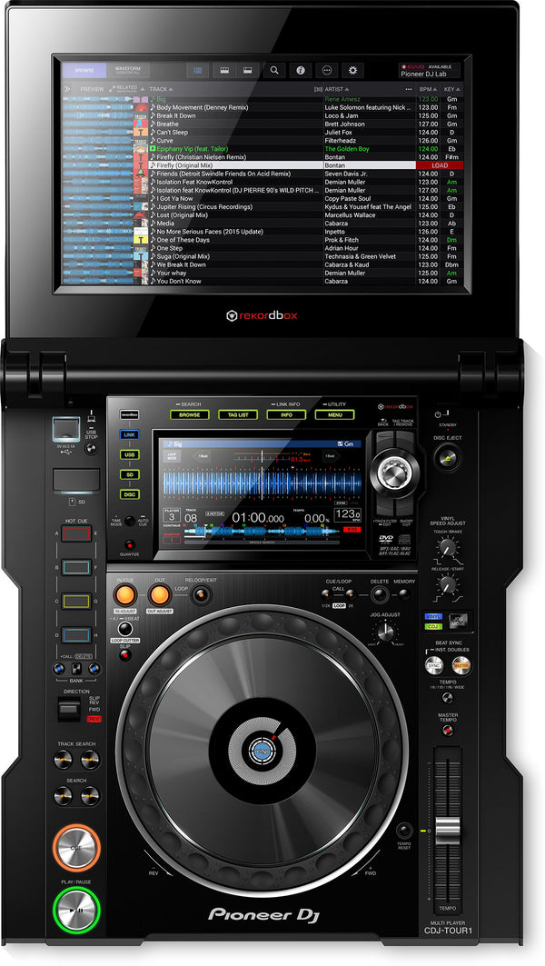 Pioneer CDJ-TOUR1 Tour System Media-Player with fold-out Touch Screen