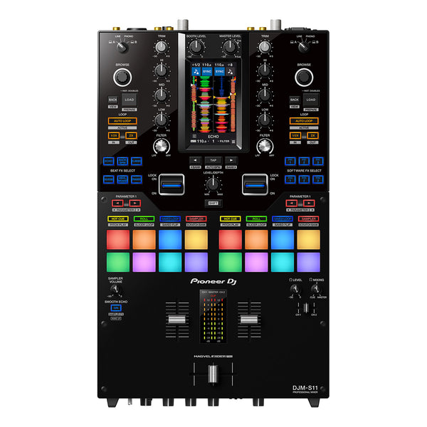 Pioneer DJM-S11 Professional 2-Channel Mixer for Serato DJ Pro & Rekordbox IN STOCK
