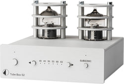 Pro-Ject TUBE BOX S2 Phono Pre-amplifier with Tube Output Stage (Silver, Black)