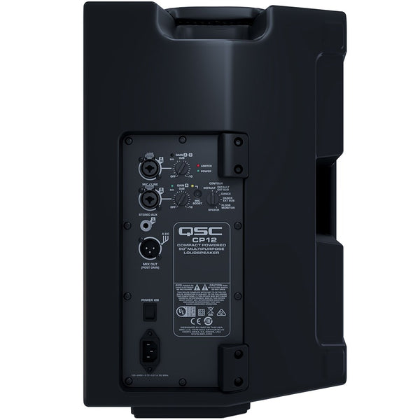"QSC CP12 1KW Compact Portable 12"" Powered Speaker"