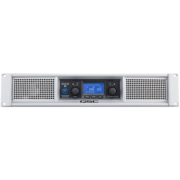 QSC GXD8 Professional Power Amplifier with DSP Processing