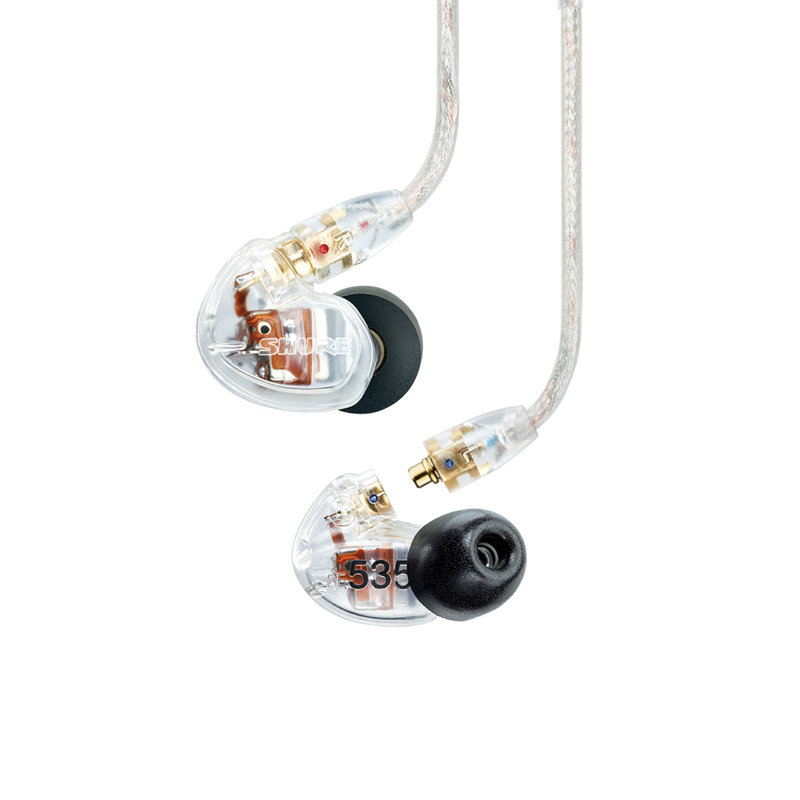 Shure SE535 Sound IsolatingTriple-Driver Earphones Clear