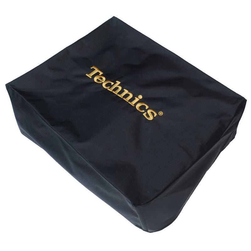 Technics DECK COVER | Black with Gold Embroidery