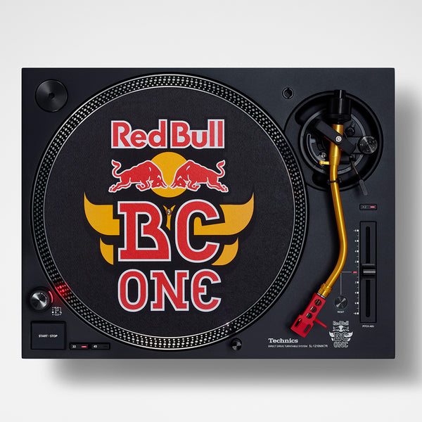 Technics SL-1210MK7R Red Bull BC One Limited Edition Direct-Drive DJ Turntable (PAIR) with FREE EAH-DJ1200 Headphones Package