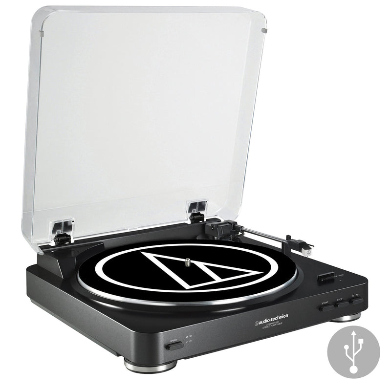 Audio Technica AT-LP60-USB Fully Automatic Turntable with Pre-amp