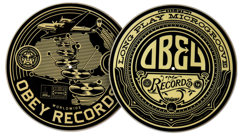Serato Pressings OBEY Giant Control Vinyl (2X 12 LP) by Shepard Fairey