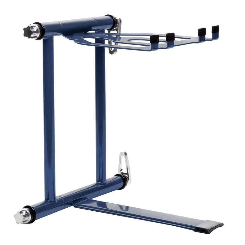 Crane Stand Plus Laptop & DJ Gear Stand Blue