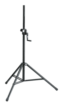 K&M 213 WIND-UP SPEAKER STAND Black | Made in Germany w/ 5 Year Warranty