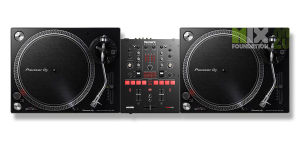 Numark SCRATCH Mixer for Serato DJ X Pioneer PLX-500 Turntable Beginner Package