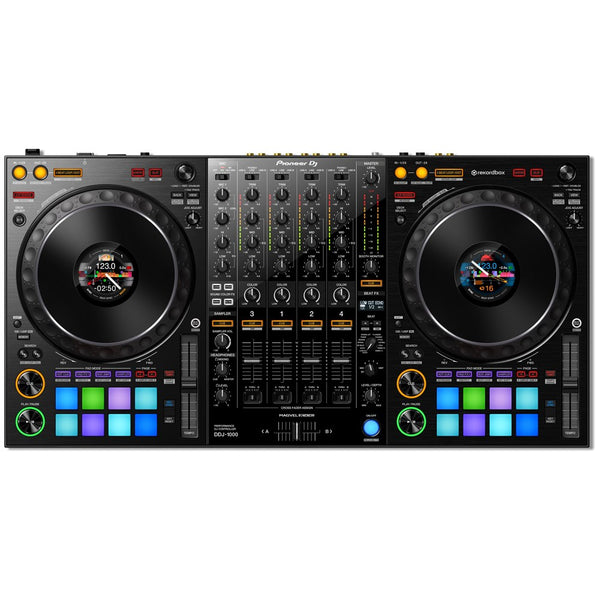 Pioneer DDJ-1000 4-Channel Rekordbox DJ Controller with Jog Wheel Display (Optional Flight Case)