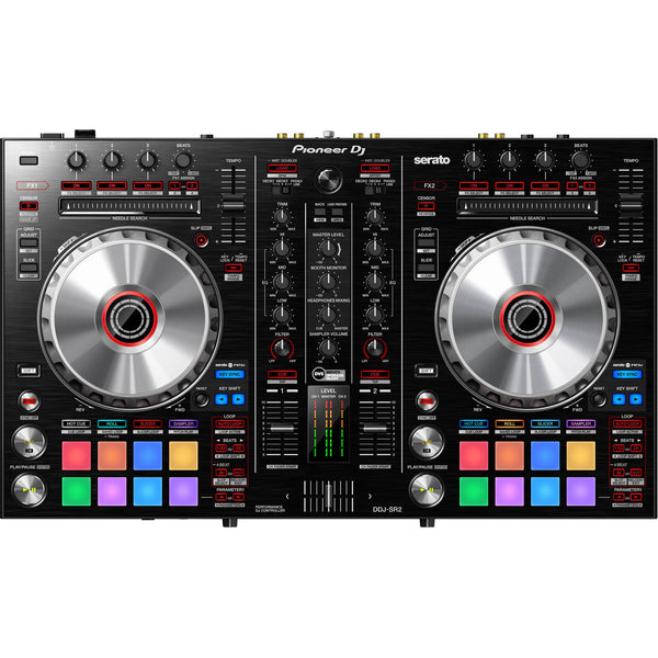 Pioneer DDJ-SR2 2-Channel Controller for Serato DJ Pro X S-DJ50X Monitors Package