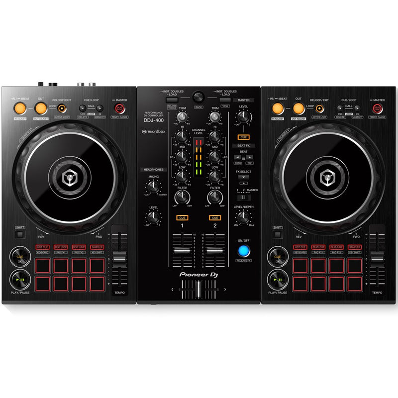 Pioneer DDJ-400 2-Channel DJ controller for Rekordbox DJ | Beginner Pack 2 PRE-ORDER
