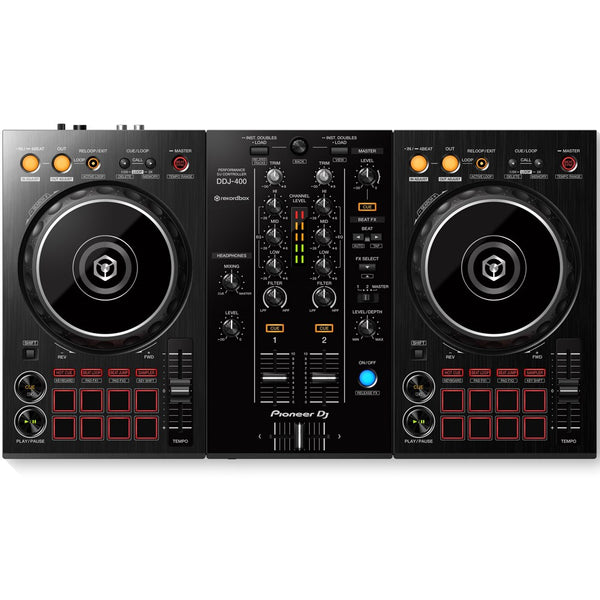 Pioneer DDJ-400 2-Channel DJ controller for Rekordbox (Optional Shell Case)