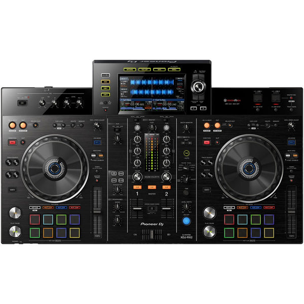 "Pioneer XDJ-RX2 All-In-One Rekordbox DJ Controller with 7"" Display Screen (optional Road case)"