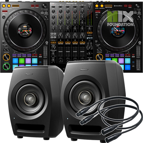 Pioneer DDJ-1000 4-Channel Rekordbox Controller X RM-05 Monitors Package