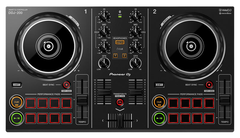 Pioneer DDJ-200 Smart Bluetooth DJ Controller | Beginner Pack 1.5