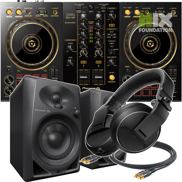 Pioneer DDJ-400-N Gold 2-Channel DJ controller for Rekordbox DJ | Beginner Pack 2 APRIL PRE-ORDER
