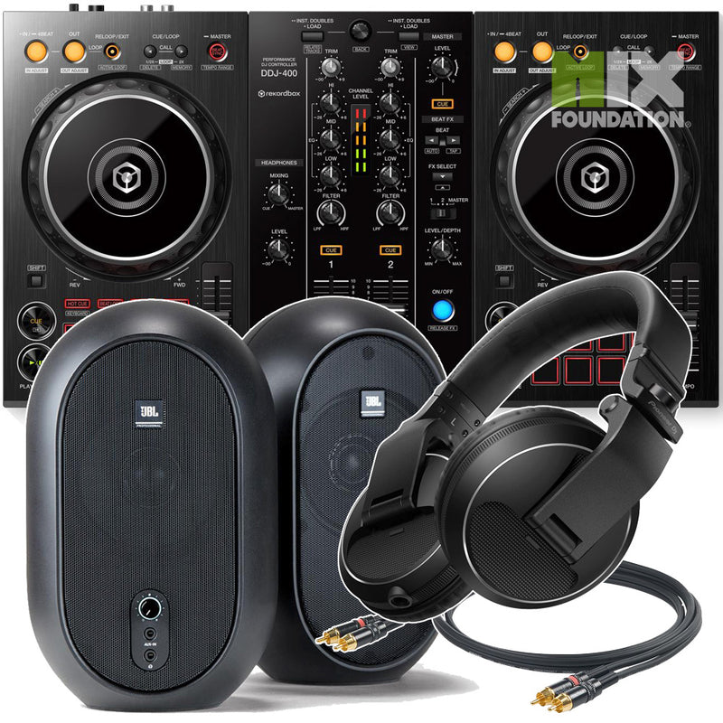 Pioneer DDJ-400 2-Channel DJ controller for Rekordbox DJ | Beginner Pack 2.5