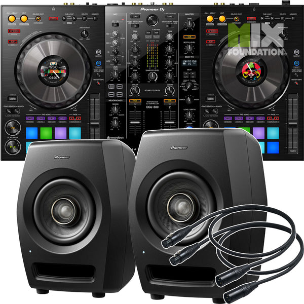 Pioneer DDJ-800 2-Channel Portable Controller for Rekordbox X RM-05 Monitors Package