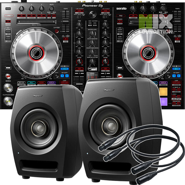 Pioneer DDJ-SR2 2-Channel Controller for Serato DJ Pro X RM-05 Monitors Package