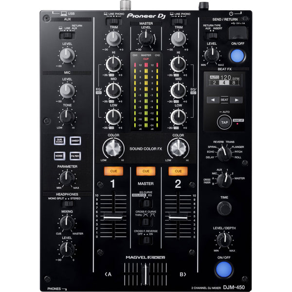 Pioneer DJM-450 2-Channel DJ Mixer with Rekorbox DJ PRE-ORDER