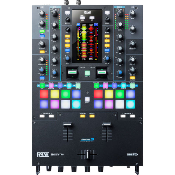 "Rane SEVENTY-TWO (72) 2-Channel Mixer for Serato DJ Pro with 4.3"" Interactive Touch Screen"