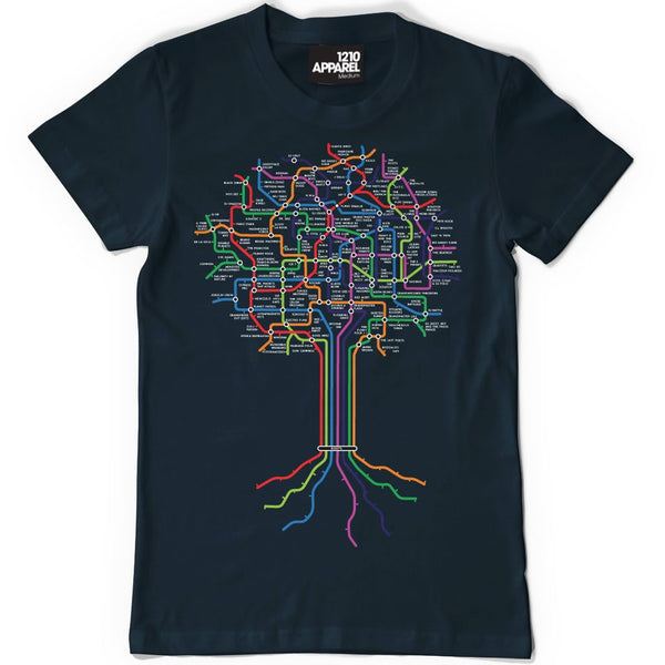 DMC HIP-HOP ROOTS Men's Tee (Navy)