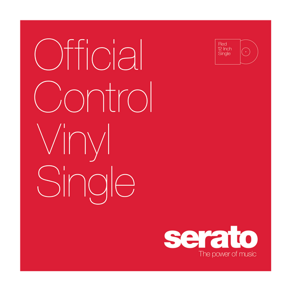 Serato Performance Series Control Vinyl Red (Single)
