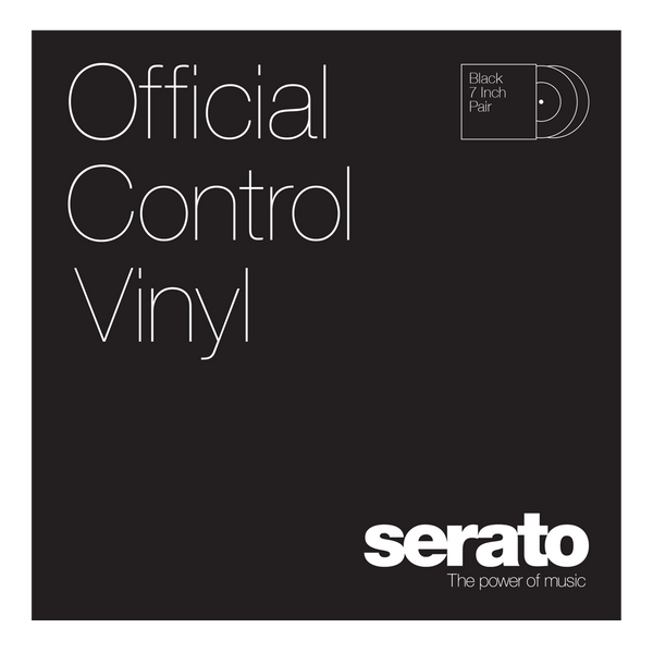 Serato 7 Performance Series Control Vinyl | Black (Pair)