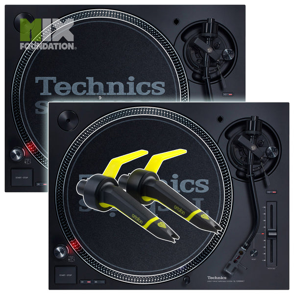 Technics SL-1210MK7 Direct Drive DJ Turntable (PAIR) with Ortofon Concorde Club Cartridges Package  PRE-ORDER