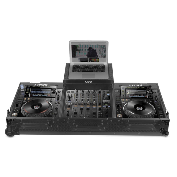 UDG Ultimate FLIGHT CASE Pioneer CDJ-2000/ 900NXS2 Black MK2 Plus (Laptop Shelf + Wheels)