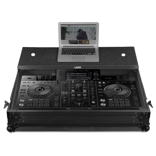 UDG Ultimate FLIGHT CASE Pioneer XDJ-RX2 Black MK3 Plus (Laptop Shelf + Wheels)